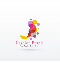 Woman face logo concept design vector