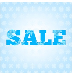 background with winter sale vector image