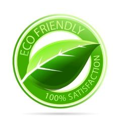 green eco friendly tags vector image vector image
