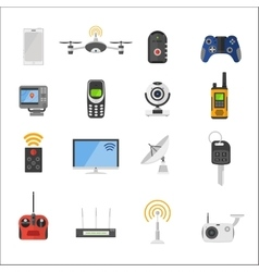 Smart house remote control electronic gadgets vector image
