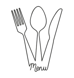 tool cutlery silhouette icon vector image