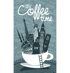 travel coffee vector image vector image