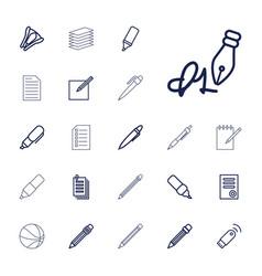 22 pen icons vector