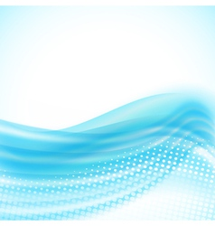 abstract light blue flowing background vector image
