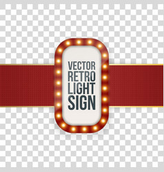 Advertising banner realistic template with lamps vector