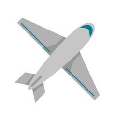 Airplane jet travel topview symbol vector