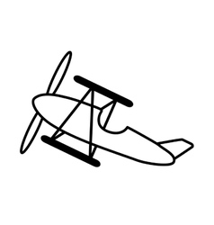 airplane vehicle flying isolated icon vector image