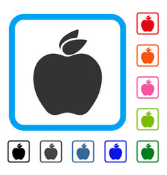apple framed icon vector image