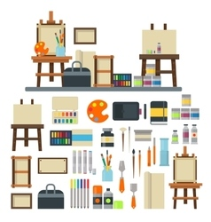 Artist icons set vector