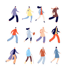 autumn people person in warm clothes urban male vector image