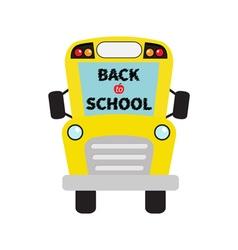 Back to school Yellow school bus kids Cartoon vector image