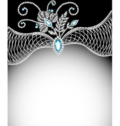 Background frame with jewels vector
