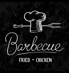 Barbecue typographical concept vector