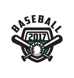 baseball 2017 logo template design element vector image