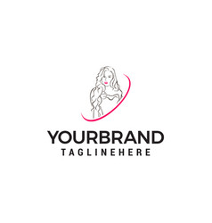 beauty women logo design concept template vector image