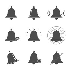 bell icon set vector image