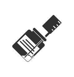 Black icon on white background injection and vector