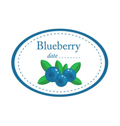 blueberry label disign isolated on white vector image