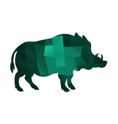 boar emerald vector image