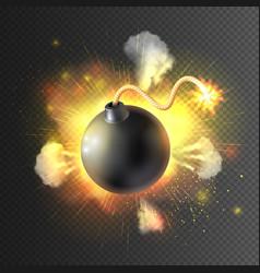 Boom bomb exploding festive poster print vector
