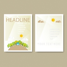 Brochure Flyer design Layout template Ecology vector