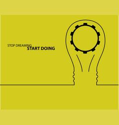 bulb light idea concept of big ideas inspiration vector image