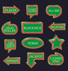 Casino party set of pointers vector