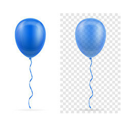 celebratory blue transparent balloons pumped vector image