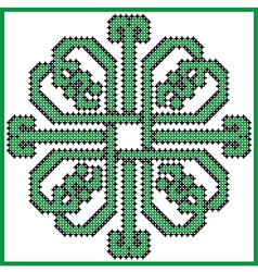 Celtic endless knot in square clover with hearts e vector