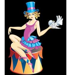 circus girl vector image