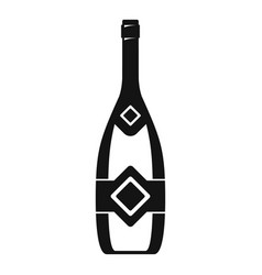 Closed champagne icon simple style vector