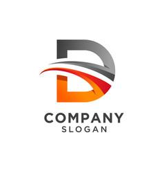 Creative letter d logo design vector
