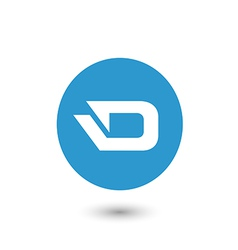 darkcoin icon vector image