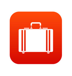 Diplomat icon digital red vector