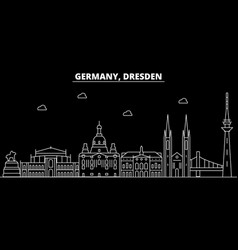 Dresden silhouette skyline germany - dresden vector