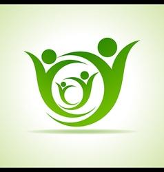 Eco people celebration icon design vector image