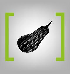 eggplant sign salad ingredient healthy vegetable vector image