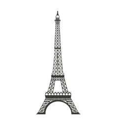 eiffel tower isolated icon design vector image