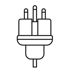 Electric wire icon outline style vector