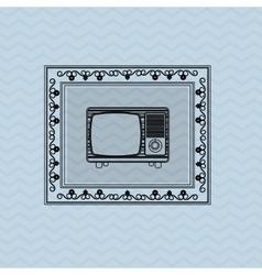 Flat about vintage tv design vector