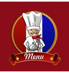 Food from France menu poster vector