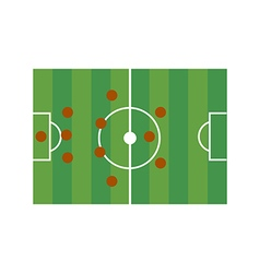 Football field 3-4-3 vector image