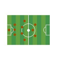 Football field 3-4-3 vector