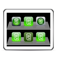 Form green app icons vector image