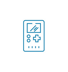 game box linear icon concept game box line vector image