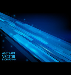 geometric blue color graphic vector image
