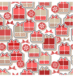 Gift boxes in flat style seamless pattern vector