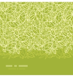 Green lace leaves horizontal seamless pattern vector