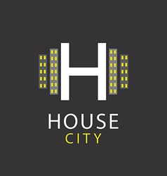 H letter logo house architecture icon vector