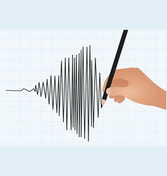 hand draw line graph vector image